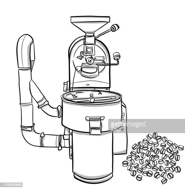 coffee-roasting - drawing artistic product stock illustrations