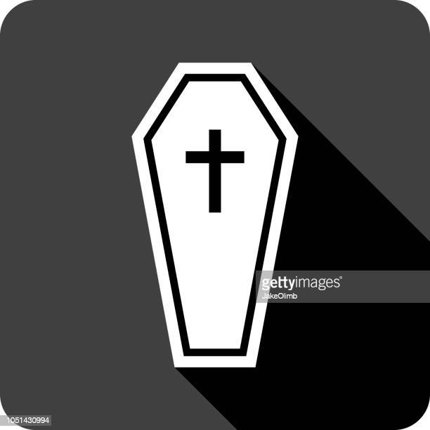 coffin icon silhouette 2 - buried stock illustrations, clip art, cartoons, & icons