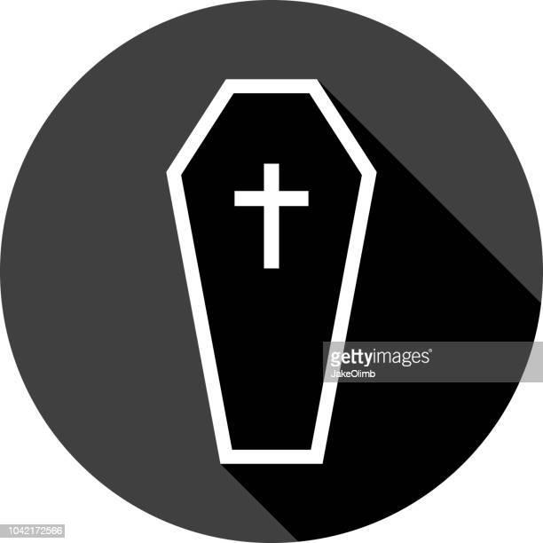coffin icon silhouette - coffin stock illustrations
