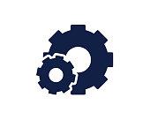cog wheel glyph icon