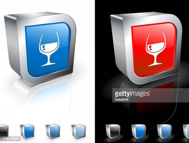 cognac glass square royalty free vector art - cognac region stock illustrations, clip art, cartoons, & icons