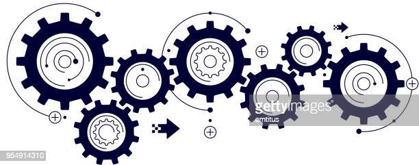 cogs design - working stock illustrations