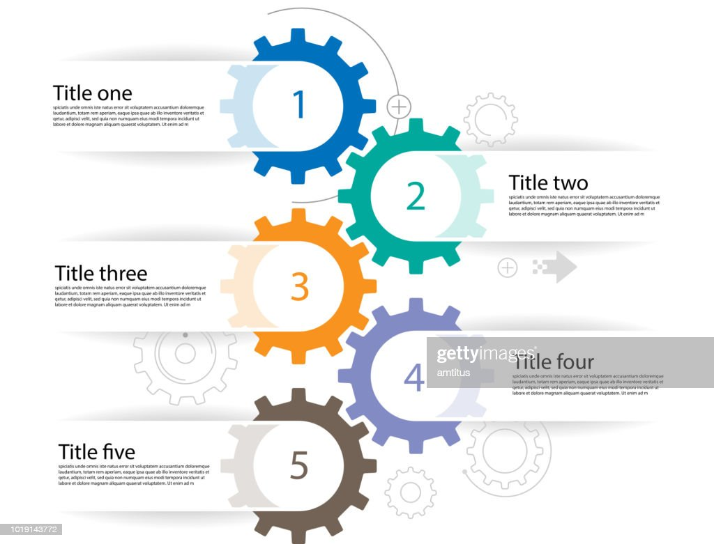 cogs infographics : Stock Illustration