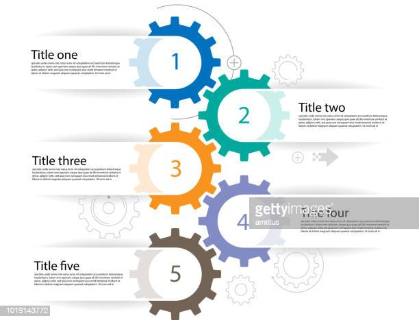 cogs infographics - cog stock illustrations