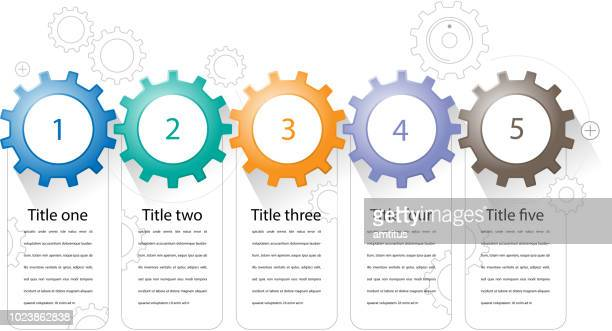 cogs infographics - cog stock illustrations