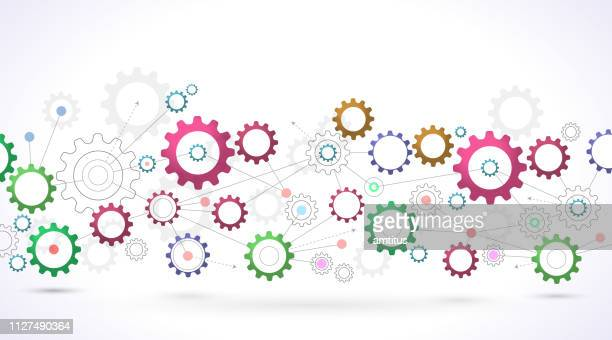 cogs network design - cog stock illustrations