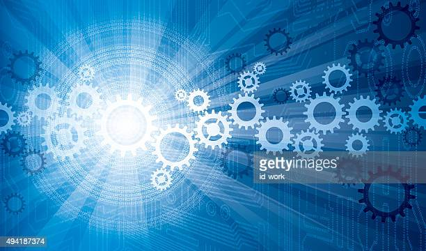 cogs with electronic background