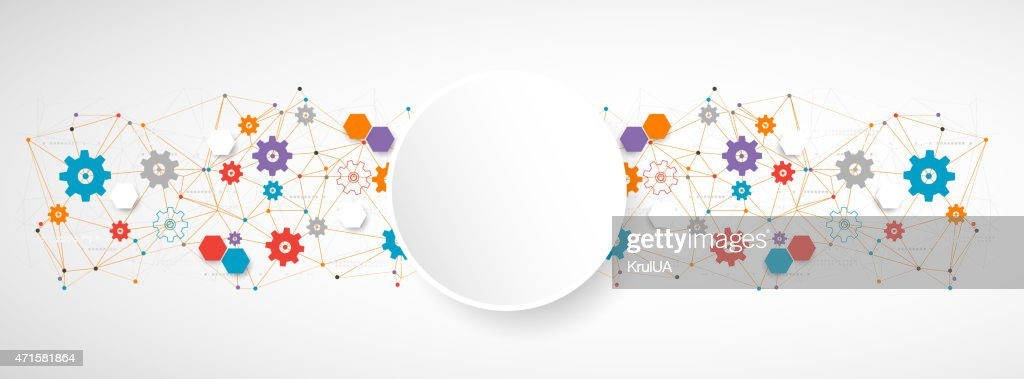 A cogwheel colorful technology abstract background