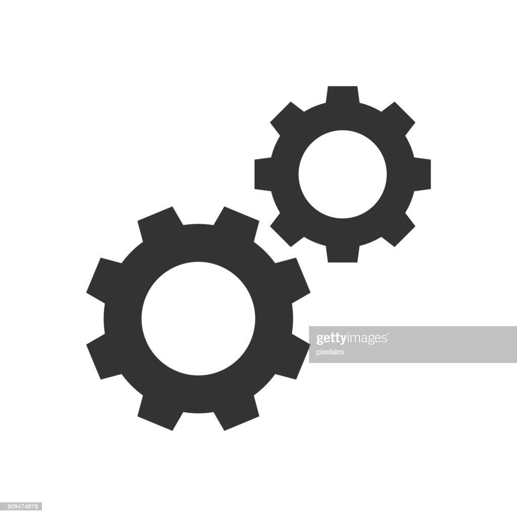 Cogwheels black icon