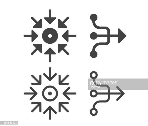 cohesion - illustration icons - merging stock illustrations