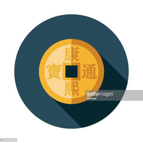 Coin Flat Design China Icon