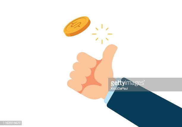 coin flip - flipping a coin stock illustrations