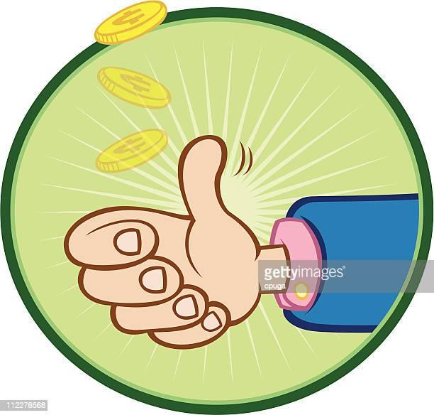 coin flip - vector - flipping a coin stock illustrations, clip art, cartoons, & icons