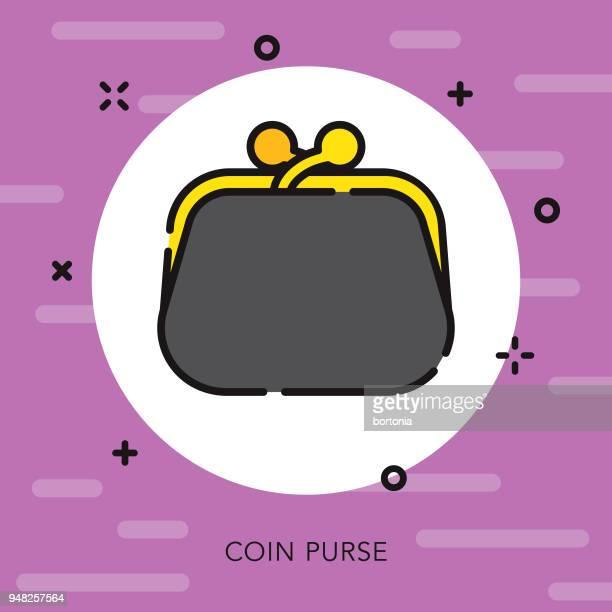 Coin Purse Open Outline Casino Icon