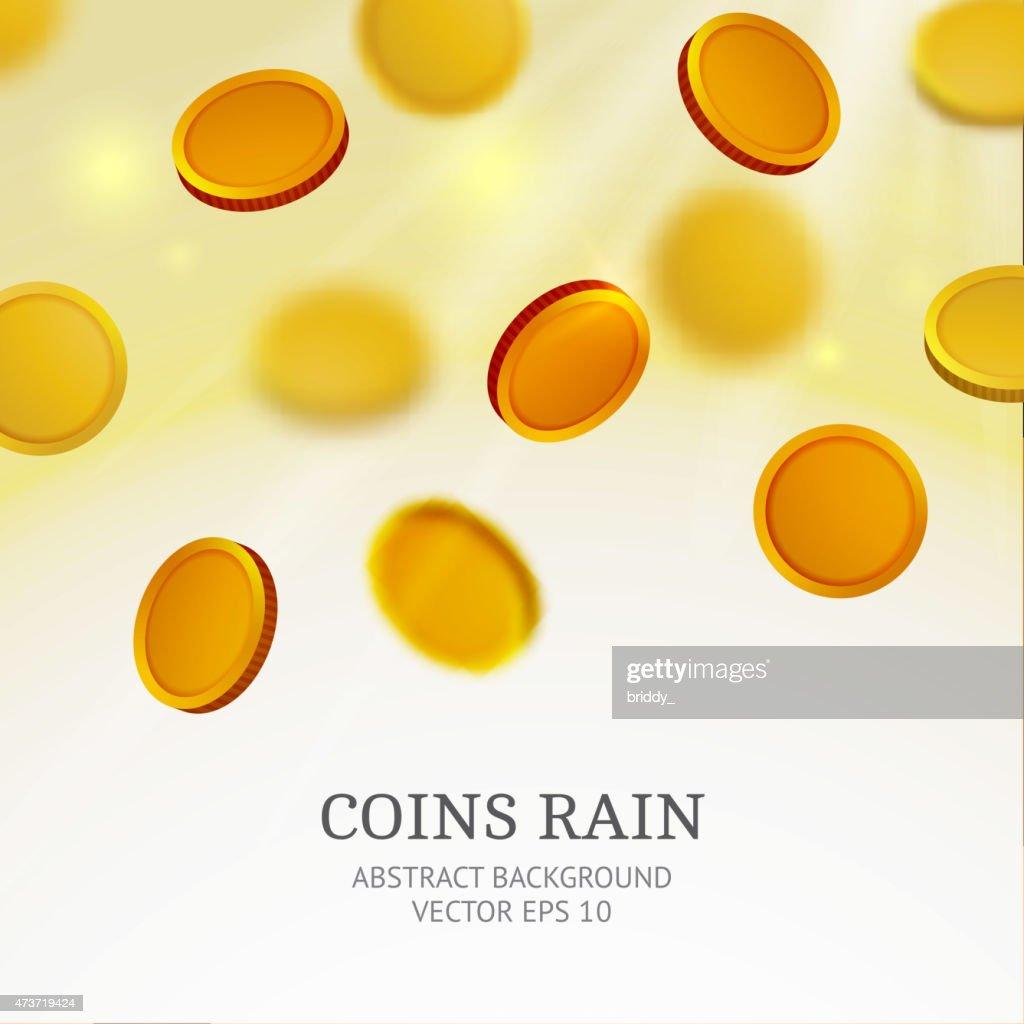 coins rain