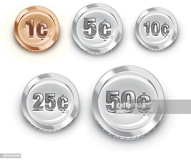 us coins - us penny stock illustrations