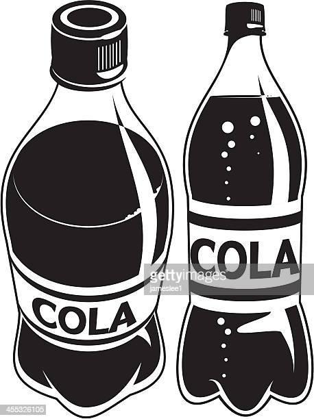 cola bottle - soda bottle stock illustrations