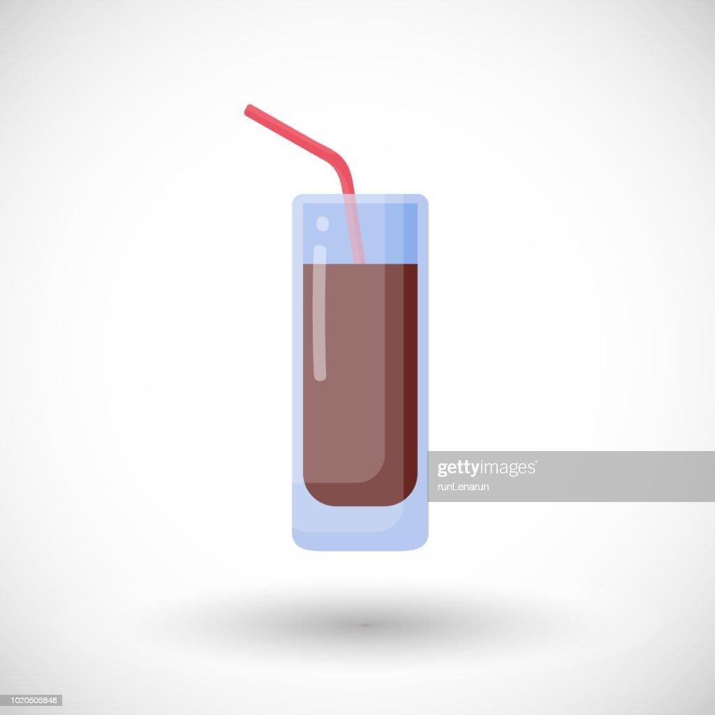 Cola vector flat icon