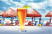 Cold Beer And A Hot Beach