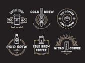 Cold brew coffee and nitro coffee logos