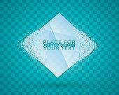 Cold crystals frame. Christma.