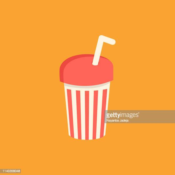 cold drink, juice glass with straw icon - fruit juice stock illustrations, clip art, cartoons, & icons
