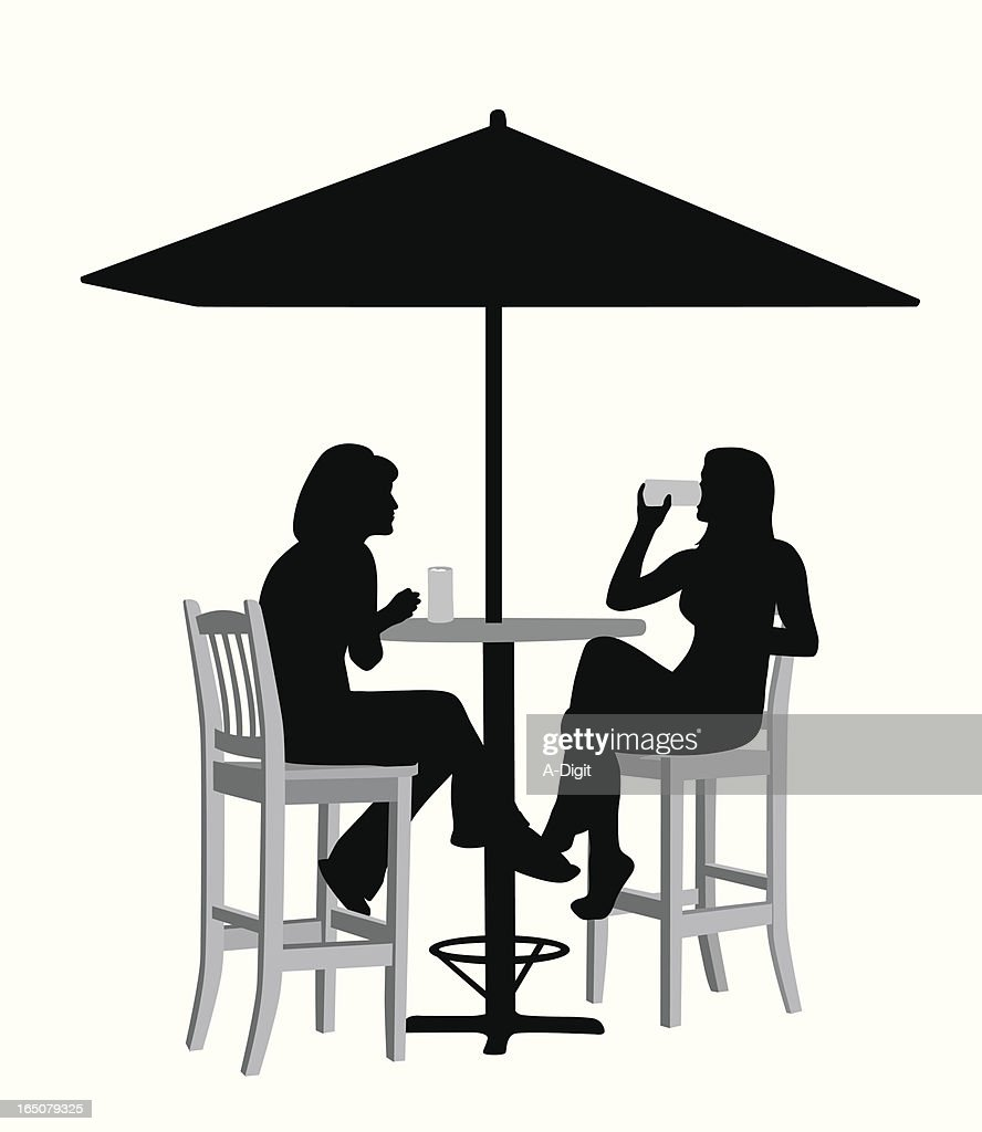 Cold Drinks Vector Silhouette