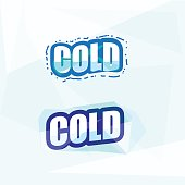 cold letters. ice concept - vector illustration