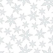 Cold steel shuriken seamless pattern