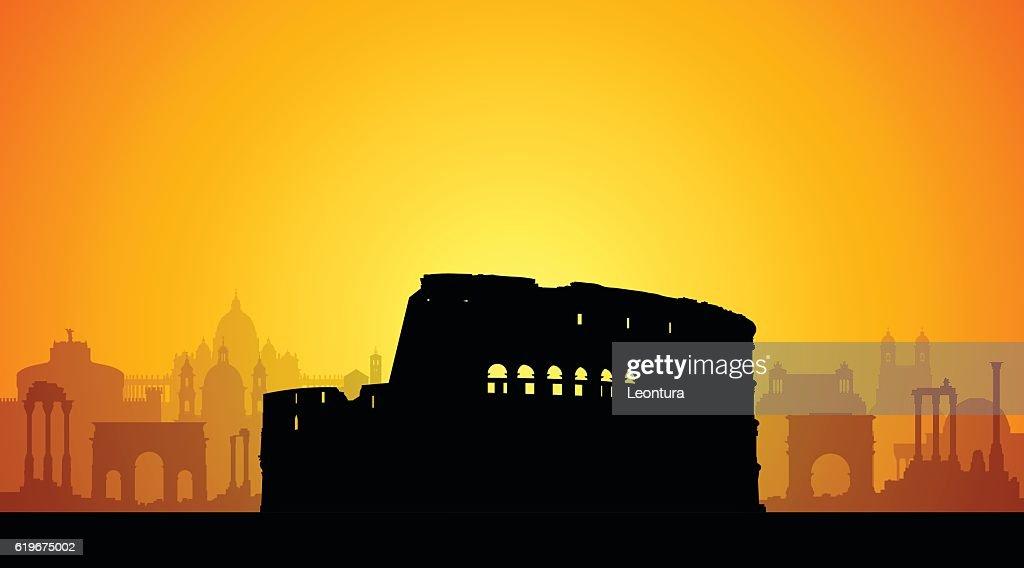 Coliseum, Rome : stock illustration