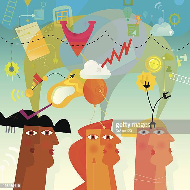 collaboration and partnership - altruism stock illustrations