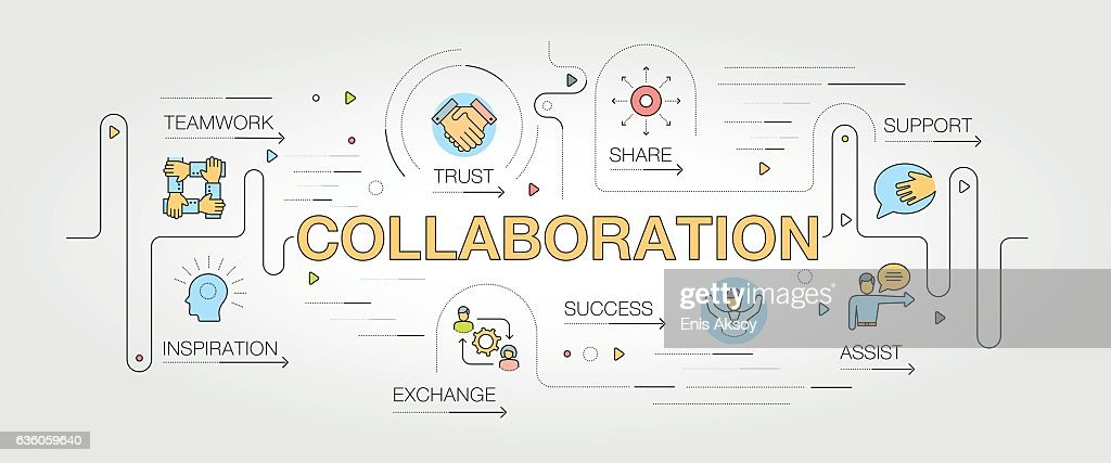 Collaboration banner and icons