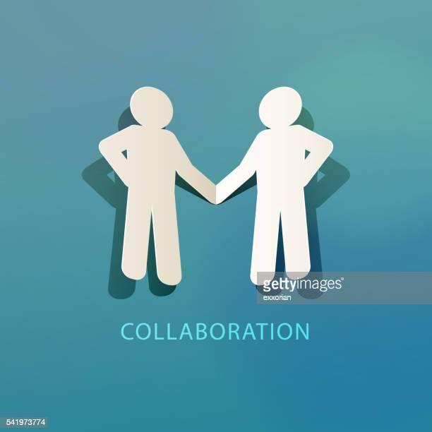 Collaboration Concept Paper Cut