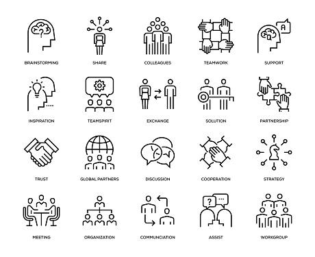 Collaboration Icon Set - gettyimageskorea