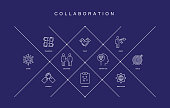 Collaboration Line Icons