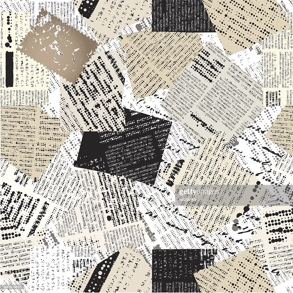 Collage of patches newspaper