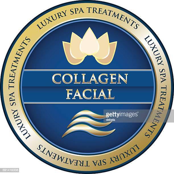 collagen facial - collagen stock illustrations