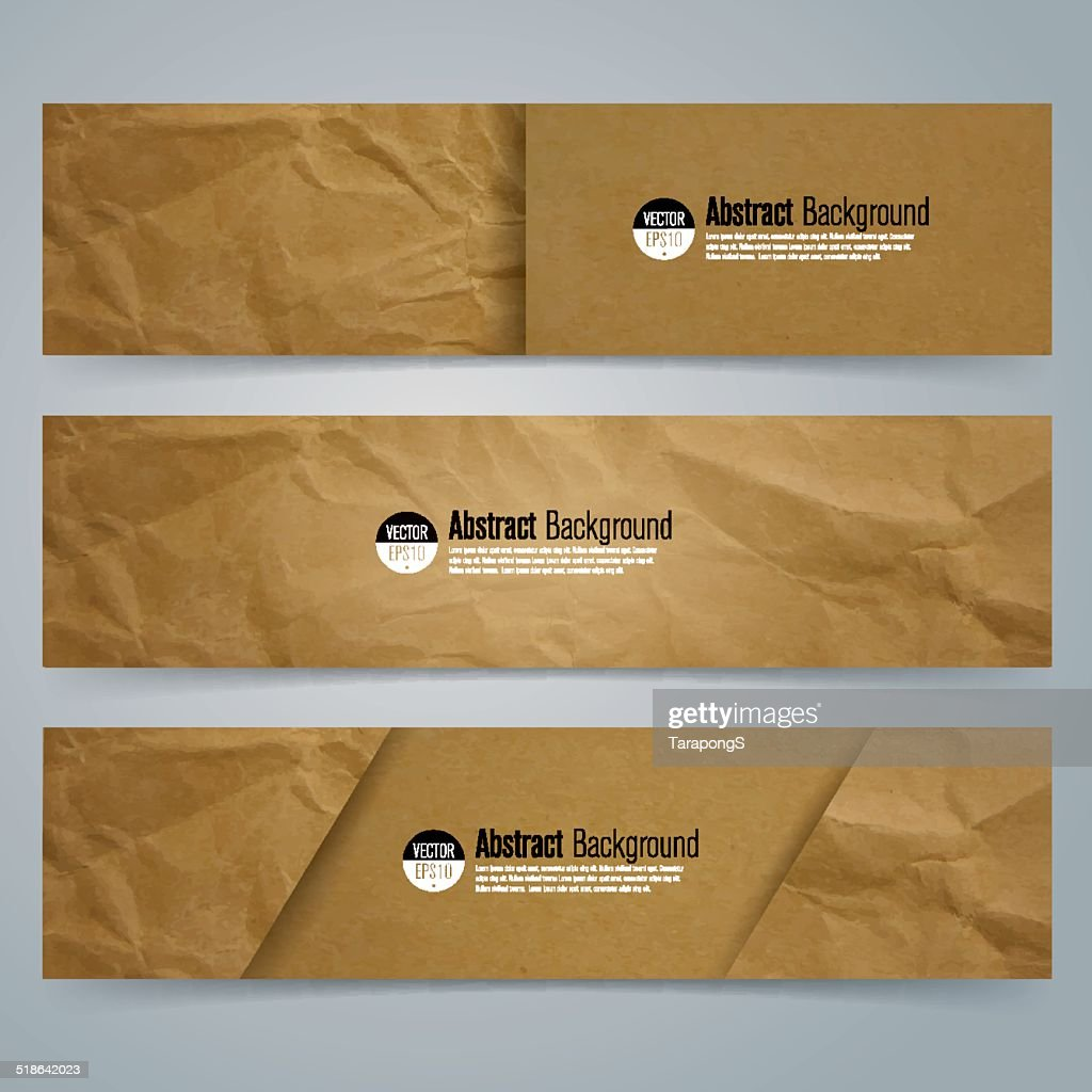 Collection banner design, Brown paper background.
