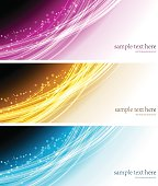 Collection banners modern wave design, colorful background. vector illustration