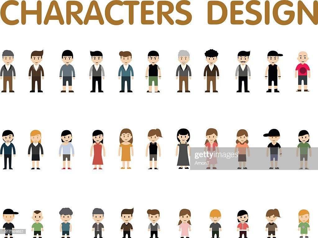 collection character design