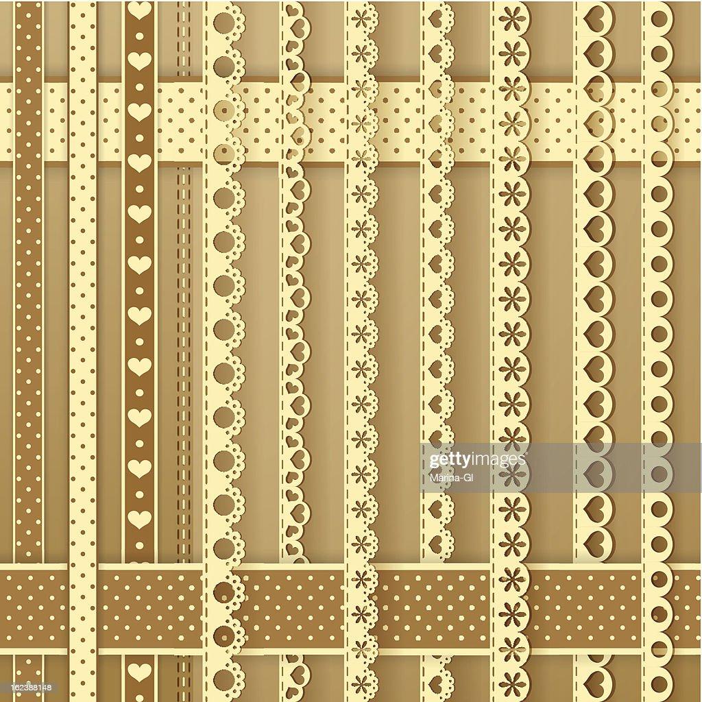 Collection Design Elements For Scrapbook Borders Vector Art Getty