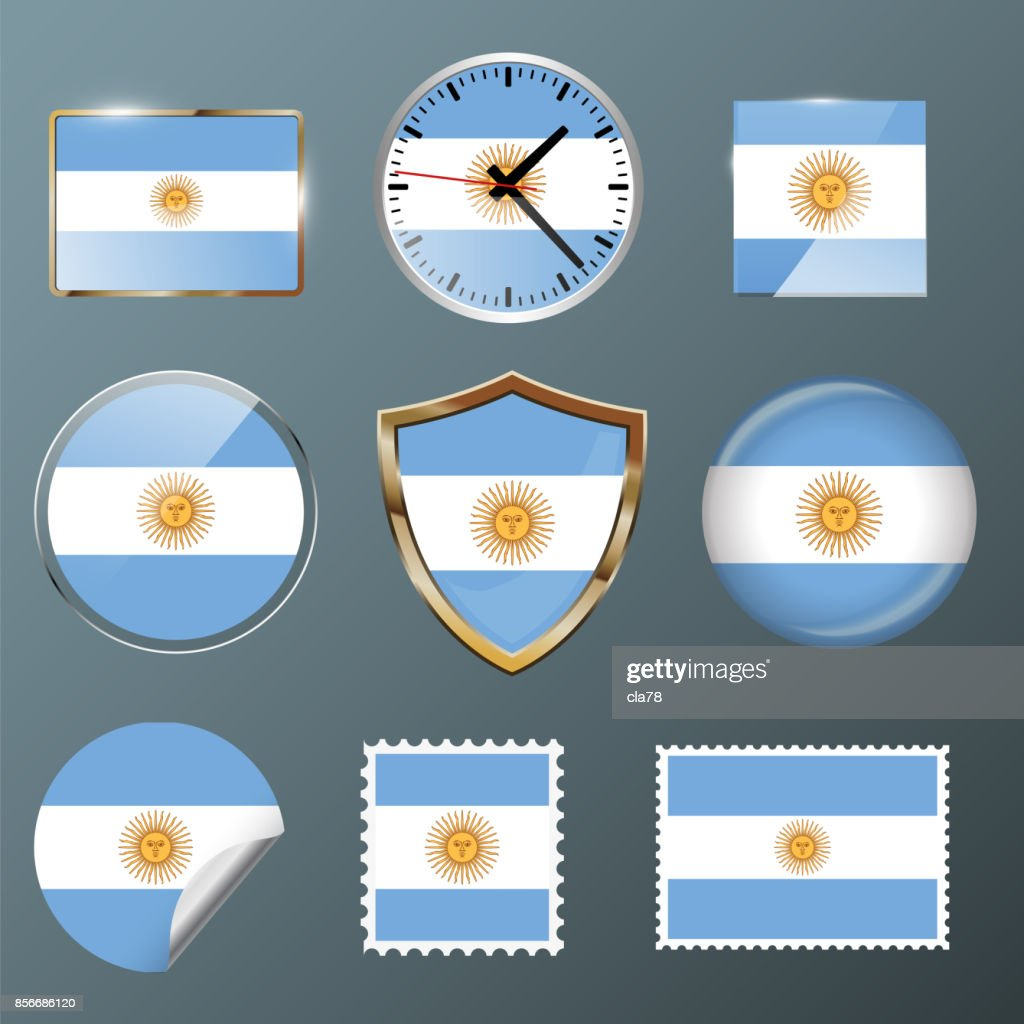 Collection flag Argentina