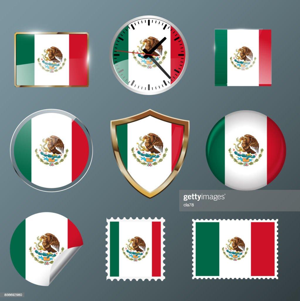 Collection flag Mexico