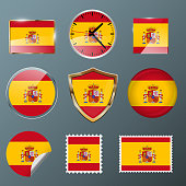 Collection flag Spain