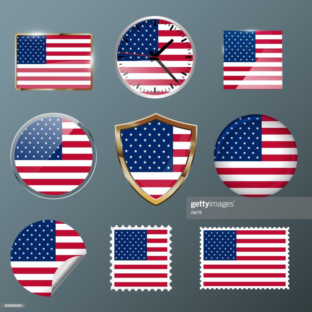 Collection flag USA