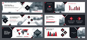 Collection internet banners templates for business communication.