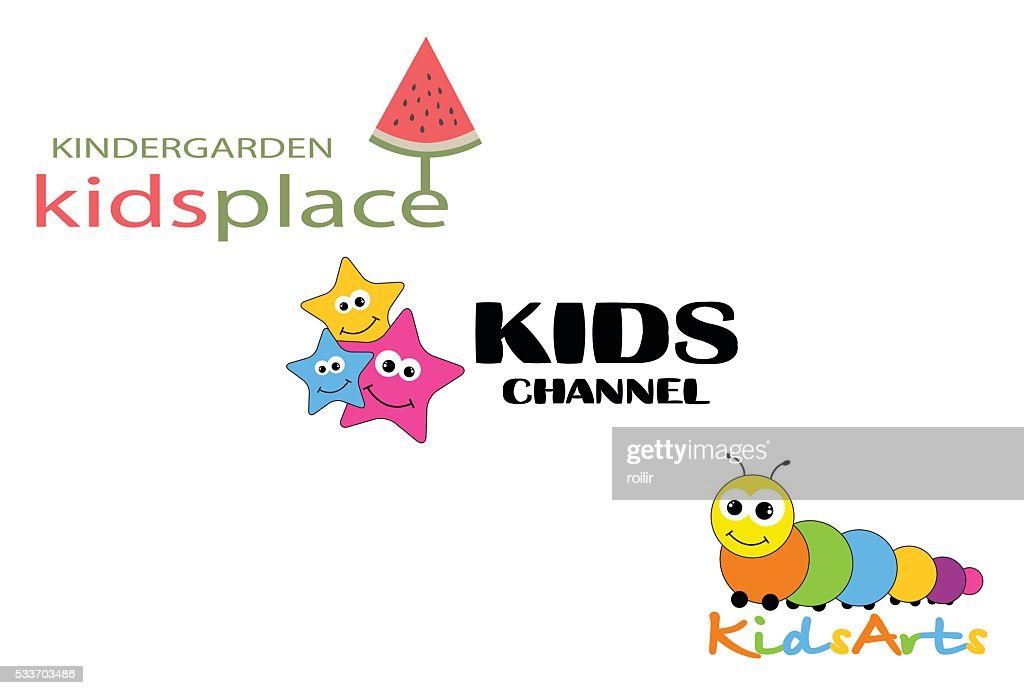 Collection logotypes for children