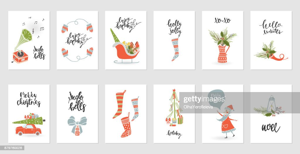 Collection Merry Christmas gift cards
