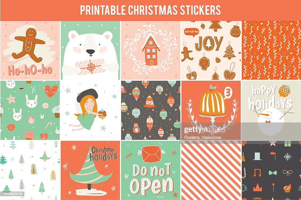 Collection of 15 Christmas gift tags and cards