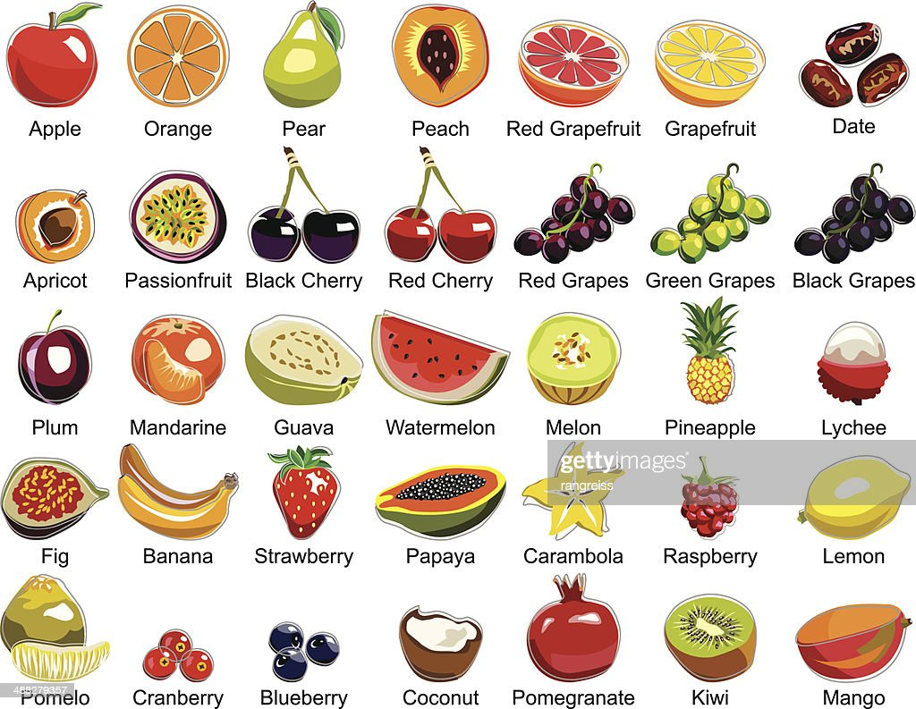 Collection of 35 Fruits icons